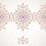 Vector floral border in Eastern style. Stock Photo