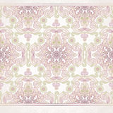 Vector floral border in Eastern style. Stock Images