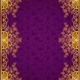 Vector floral border in Eastern style. Royalty Free Stock Photos