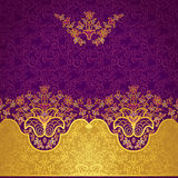 Vector floral border in Eastern style. Stock Photography