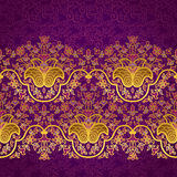 Vector floral border in Eastern style. Royalty Free Stock Photography