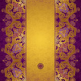 Vector floral border in Eastern style. Stock Photos
