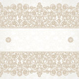 Vector floral border in Eastern style. Royalty Free Stock Image