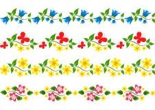 Vector floral border. Set. Stock Photo