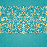 Vector floral border in Victorian style. Stock Images