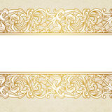 Vector floral border in Victorian style. Royalty Free Stock Photos