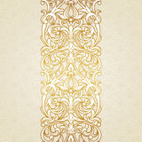 Vector floral border in Victorian style. Stock Photography