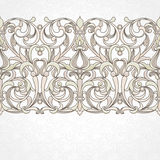 Vector floral border in Victorian style. Stock Image