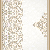 Vector floral border in Victorian style. Royalty Free Stock Photo