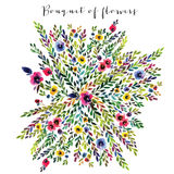Vector floral bouquet Stock Photos