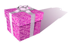Vector floral box Royalty Free Stock Photo