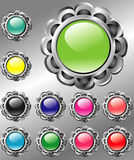 Vector floral buttons Royalty Free Stock Images