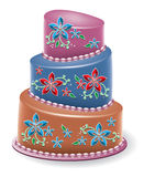 vector  floral cake Stock Photo