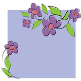 Vector floral card Stock Image