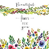 Vector floral card. Colorful floral banner with Stock Photos