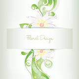 Vector floral card invitation, blooming flowers. Vector floral card invitation with blooming flowers, illustration in CS and EPS10 format. Vector with Royalty Free Stock Images