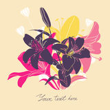 Vector Floral card with place for your text Stock Photography