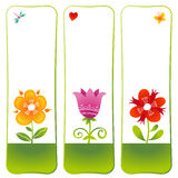 Vector floral cards. Royalty Free Stock Photography