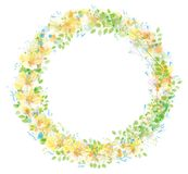 Vector  floral  circle  frame. Stock Image
