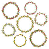 Vector floral circle frames for your design Stock Image