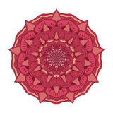 Vector floral colorful mandala. Beautiful design element in ethnic style Stock Photo