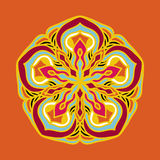 Vector floral colorful mandala. Beautiful design element in ethnic style Stock Photos