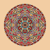 Vector floral colorful mandala. Beautiful design element in ethnic style Stock Images
