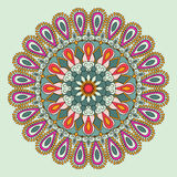 Vector floral colorful mandala. Beautiful design element in ethnic style. Indian, arabic, oriental motives Stock Photo