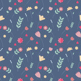 Floral colorful seamless pattern. Scandinavian style Stock Image