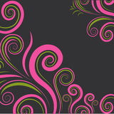 Vector floral colorful twirl pattern Royalty Free Stock Photography