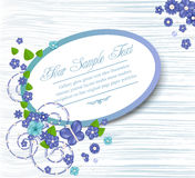 Vector floral congratulatory background Stock Photo