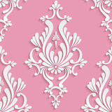 Vector Floral Damask Seamless Pattern Royalty Free Stock Photo