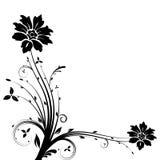 Vector floral de la bandera Foto de archivo libre de regalías