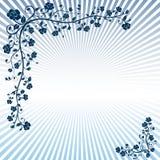 Vector floral de la bandera Fotografía de archivo libre de regalías