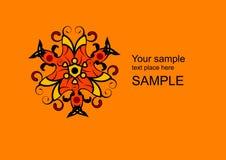 Vector floral de la insignia Imágenes de archivo libres de regalías