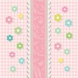 Vector floral de la tarjeta de felicitación del bebé hermoso Foto de archivo libre de regalías
