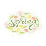 Vector floral de la tarjeta de la primavera libre illustration