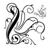 VECTOR FLORAL DECOR. Vector illustration floral grunge art design elements Royalty Free Stock Image