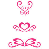 Vector Floral Decorations. In eps,jpg file Stock Images