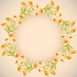 Vector floral decorative background. Stock Images