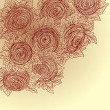 Vector floral decorative background. Sketch style. Stock Image