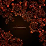 Vector floral decorative background. Royalty Free Stock Photography