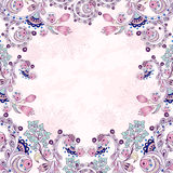 Vector floral decorative background. Royalty Free Stock Photo