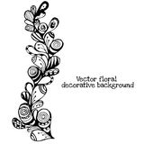 Vector floral decorative paisley ethnic background. pattern with doodle design elements. Stock Photos