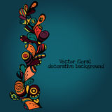 Vector floral decorative paisley ethnic background. pattern with doodle design elements. Royalty Free Stock Photography