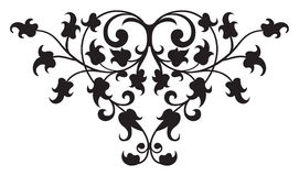Vector floral del detalle 2 del renacimiento Imagenes de archivo