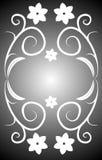 Vector floral del marco Imagen de archivo