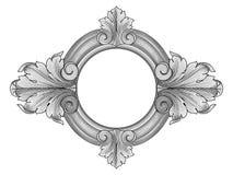 Vector floral del marco Fotos de archivo