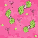 Vector floral del modelo de la repetición del chicle del rosa stock de ilustración