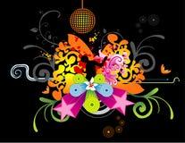 Vector floral del partido   Foto de archivo